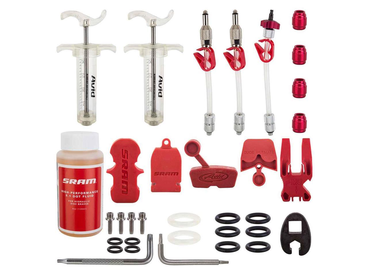 SRAM TOOL BRAKE HYDRO BLEED KIT PRO WITH DOT FLUID