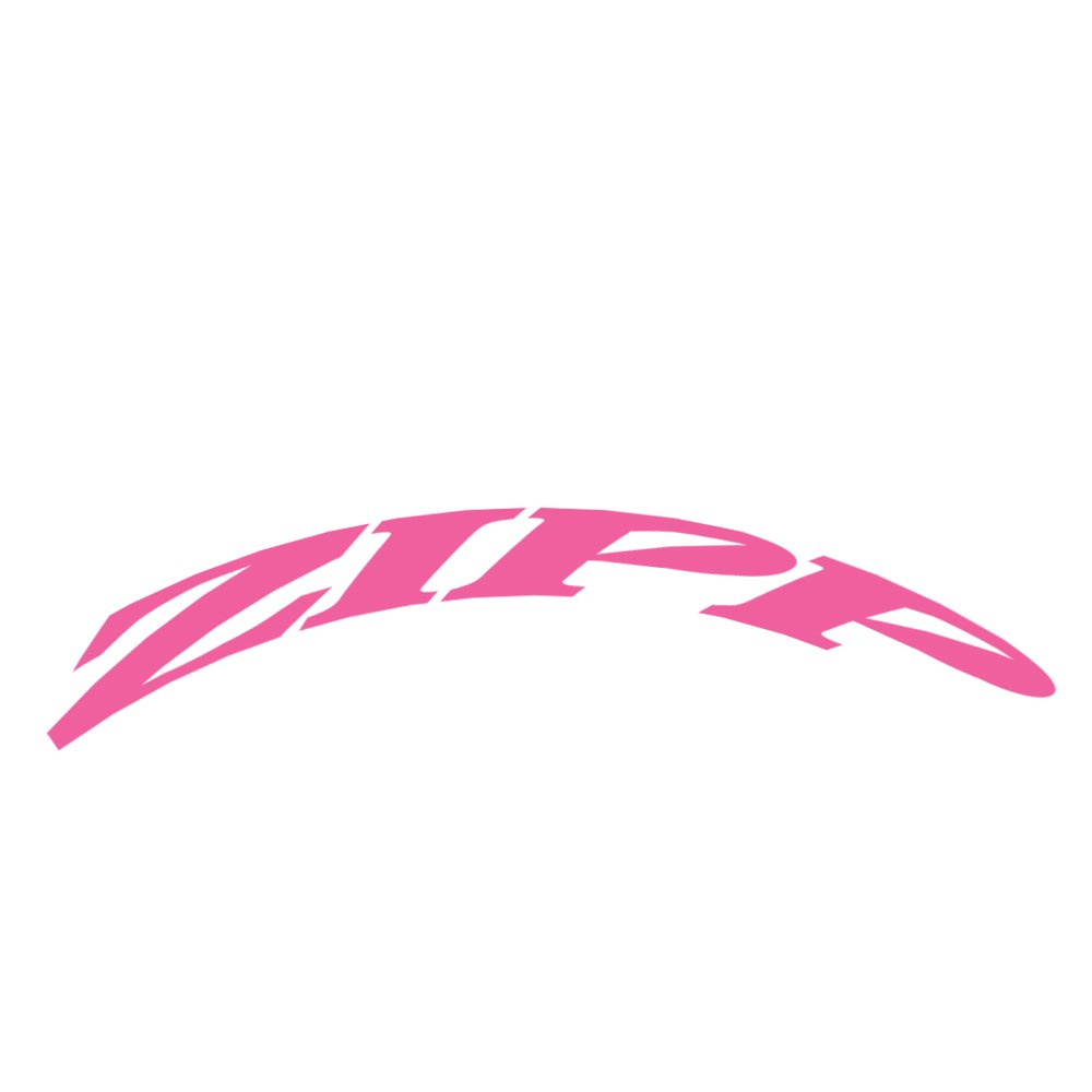 Zipp Decal Set 303 Matte Pink//No Border Zipp Logo Complete For One Wheel