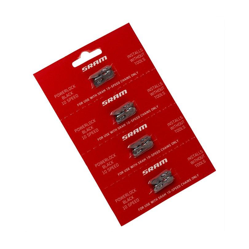 SRAM CHAIN POWER LOCK 10SPD BLACK (4PC CARD)