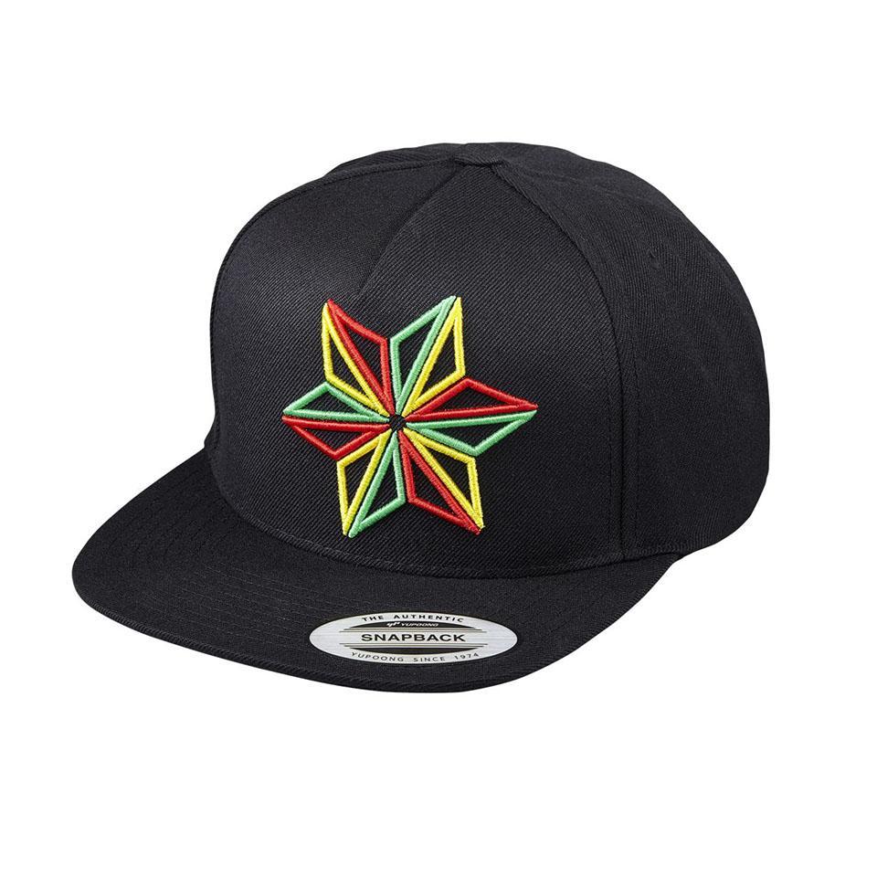 SUPACAZ SNAPBAX CAP BLACK / ZION STAR