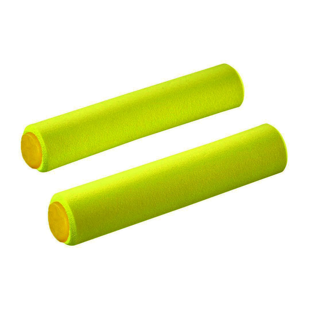 SUPACAZ GRIPS SILICONEZ SL L YELLOW (32MM)