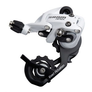 SRAM DERAILLEUR REAR SHORT CAGE APEX 10 SPEED WHITE - Click for more info