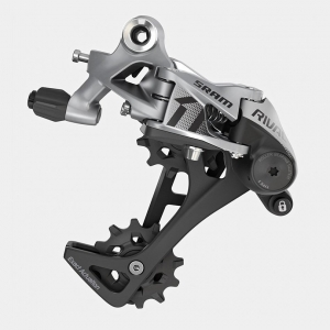 SRAM DERAILLEUR REAR LONG CAGE RIVAL1 3.0 11 SPEED SILVER / BLACK - Click for more info
