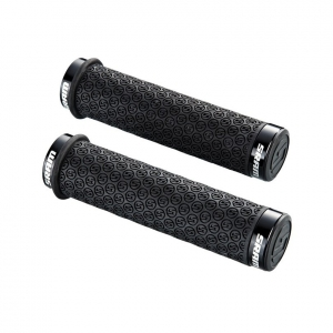 SRAM GRIPS LOCKING DH SILICONE BLACK (PAIR) - Click for more info