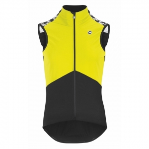 ASSOS SHELL VEST MILLEGT SPRING/FALL FLURO YELLOW - Click for more info