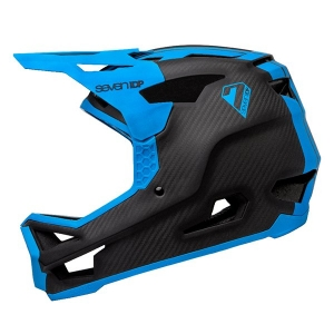 SEVEN IDP PROJECT23 CARBON HELMET RAW CARBON & ELECTRIC BLUE - Click for more info