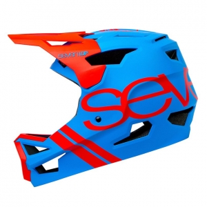 SEVEN IDP PROJECT23 ABS HELMET MATTE ELECTRIC BLUE & RED - Click for more info