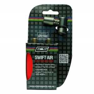 ES SWIFT AIR CO2 INFLATOR & 2 CARTRIDGES (16G) - Click for more info
