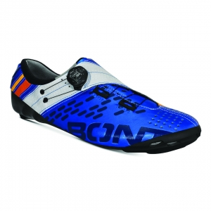 BONT HELIX METALLIC BLUE/WHITE WIDE FIT - Click for more info