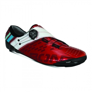BONT HELIX SHINY RED/WHITE NARROW FIT - Click for more info
