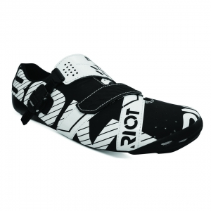 BONT RIOT BUCKLE BLACK / WHITE WIDE FIT - Click for more info