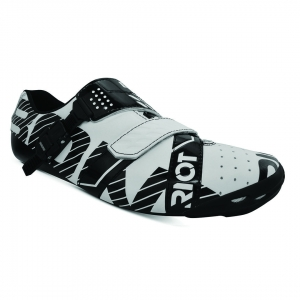 BONT RIOT BUCKLE WHITE / BLACK WIDE FIT - Click for more info