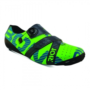 BONT RIOT ROAD+ TOTALLY LIME/CHARCOAL WIDE FIT - Click for more info