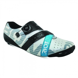 BONT RIOT ROAD+ BOA PEARL WHITE / BLACK WIDE FIT - Click for more info
