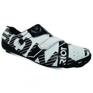 BONT RIOT ROAD+ WHITE/BLACK WIDE FIT - Click for more info