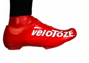 veloToze Shoe Cover Short Red - Click for more info