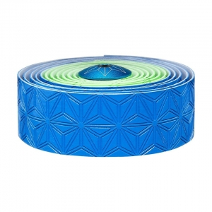 SUPACAZ BAR TAPE SSK NEON GREEN / NEON BLUE WITH BLUE PLUGS