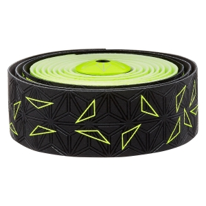 SUPACAZ BAR TAPE SSK NEON YELLOW STAR FADE - Click for more info