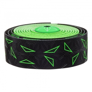 SUPACAZ BAR TAPE SSK NEON GREEN STAR FADE - Click for more info