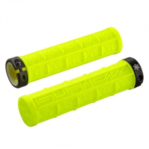 SUPACAZ BAR GRIPS GRIZIP NEON YELLOW - Click for more info