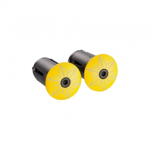 SUPACAZ BAR PLUGS STARPLUGZ TDF YELLOW - Click for more info