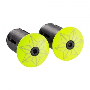 SUPACAZ BAR PLUGS STARPLUGZ NEON YELLOW - Click for more info