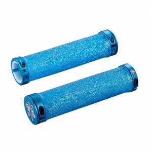 SUPACAZ BAR GRIPS DIAMOND BLUE CLEAR BLING - Click for more info