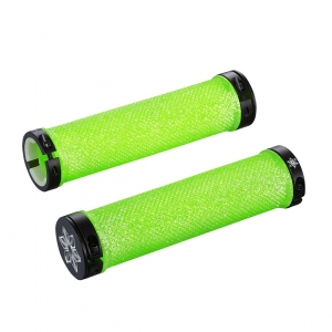 SUPACAZ BAR GRIPS DIAMOND GREEN CLEAR BLING - Click for more info