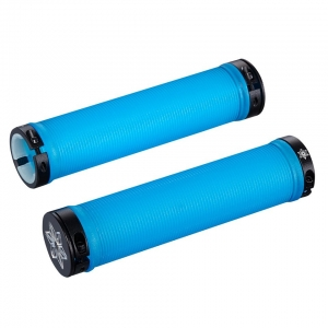 SUPACAZ BAR GRIPS RAD NEON BLUE CLEAR - Click for more info