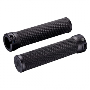SUPACAZ BAR GRIPS DIAMOND BLACK WITH STAR RING - Click for more info