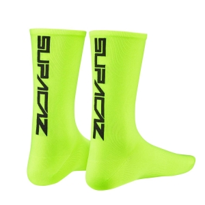 SUPACAZ SOCKS NEON YELLOW / BLACK - Click for more info