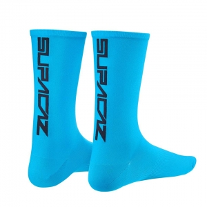 SUPACAZ SOCKS NEON BLUE / BLACK - Click for more info