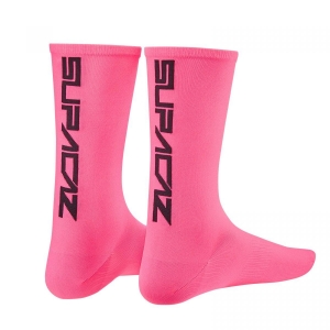 SUPACAZ SOCKS NEON PINK / BLACK - Click for more info