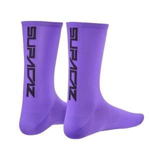 SUPACAZ SOCK NEON PURPLE / BLACK - Click for more info