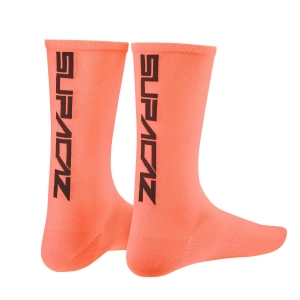 SUPACAZ SOCKS CORAL / BLACK - Click for more info