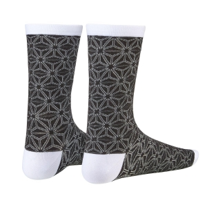 SUPACAZ SOCKS ASANOHA BLACK / WHITE - Click for more info