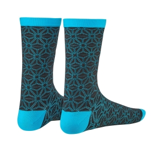 SUPACAZ SOCKS ASANOHA BLACK / NEON BLUE - Click for more info