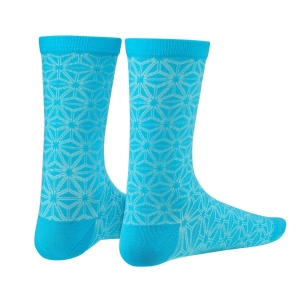 SUPACAZ SOCKS ASANOHA NEON BLUE / CELESTE - Click for more info