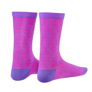 SUPACAZ SOCKS ASANOHA NEON PURPLE / PINK - Click for more info