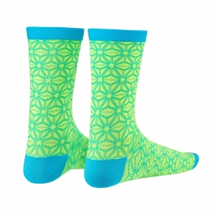 SUPACAZ SOCKS ASANOHA NEON YELLOW / BLUE - Click for more info