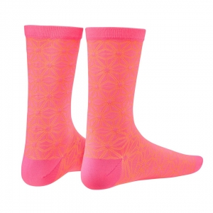 SUPACAZ SOCKS ASANOHA NEON PINK / ORANGE - Click for more info
