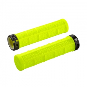 SUPACAZ BAR GRIPS GRIZIP NEON YELLOW CLEAR - Click for more info