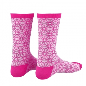 SUPACAZ SOCK ASANOHA WHITE / PINK L/XL - Click for more info