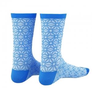 SUPACAZ SOCK ASANOHA WHITE / BLUE L/XL - Click for more info
