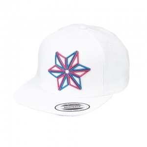 abf5ff68a13 SUPACAZ SNAPBAX CAP WHITE   NEON PINK   BLUE STAR - Click for more info