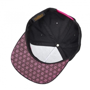 SUPACAZ SNAPBAX CAP BLACK / NEON PINK SUPACAZ