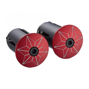 SUPACAZ BAR PLUGS STARPLUGZ RED ANO - Click for more info