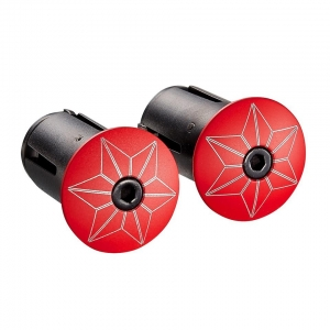 SUPACAZ BAR TAPE SSK RED / WHITE WITH RED PLUGS