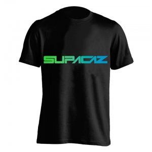 SUPACAZ TEE FADER NEON GREEN /  NEON BLUE - Click for more info