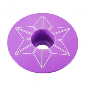 SUPACAZ STEM TOP CAPZ NEON PURPLE - Click for more info